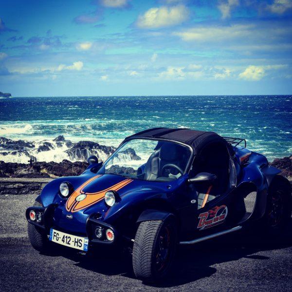 buggy devant la mer La Réunion
